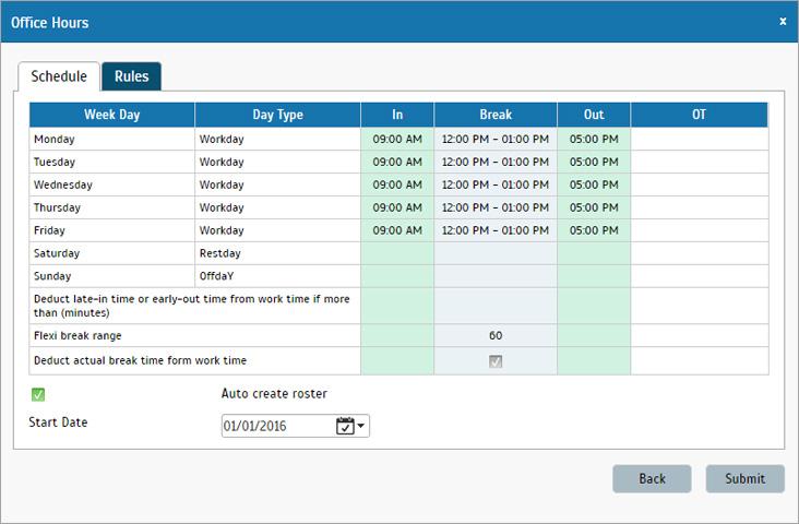 9 to 5 work schedule