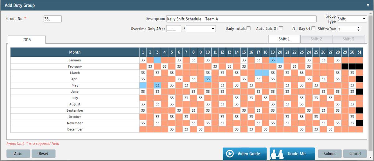 kelly shift schedule